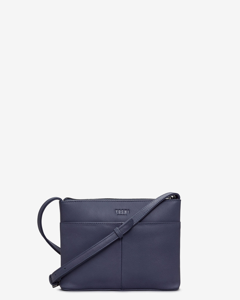 Owl You Need Navy Leather Cross Body Bag - Yoshi