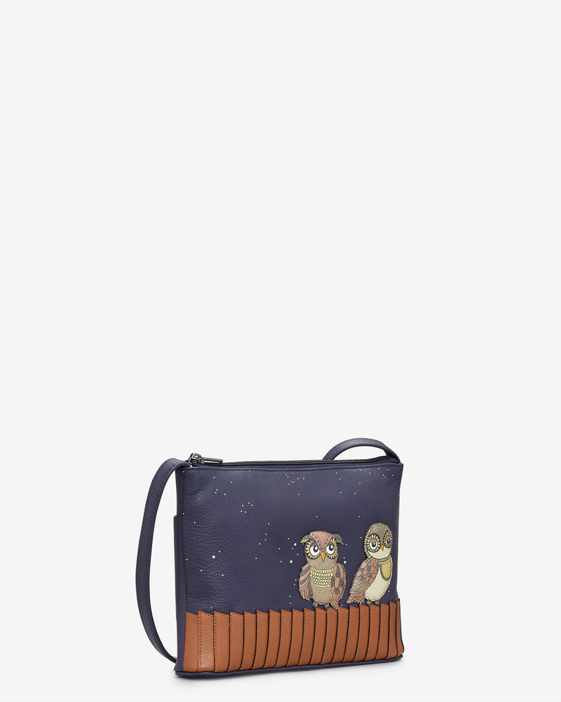 Owl You Need Navy Leather Cross Body Bag -  - Yoshi