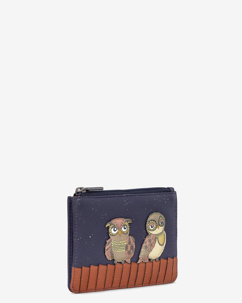 Owl You Need Navy Leather Franklin Purse -  - Yoshi