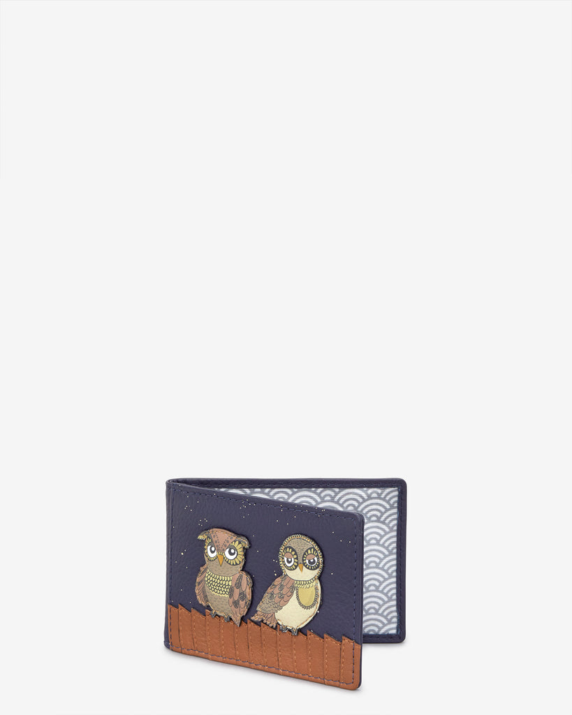 Owl You Need Navy Leather Travel Pass Holder -  - Yoshi
