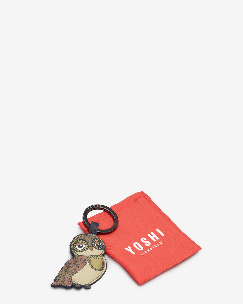 Owl You Need is Her Navy Leather Keyring -  - Yoshi
