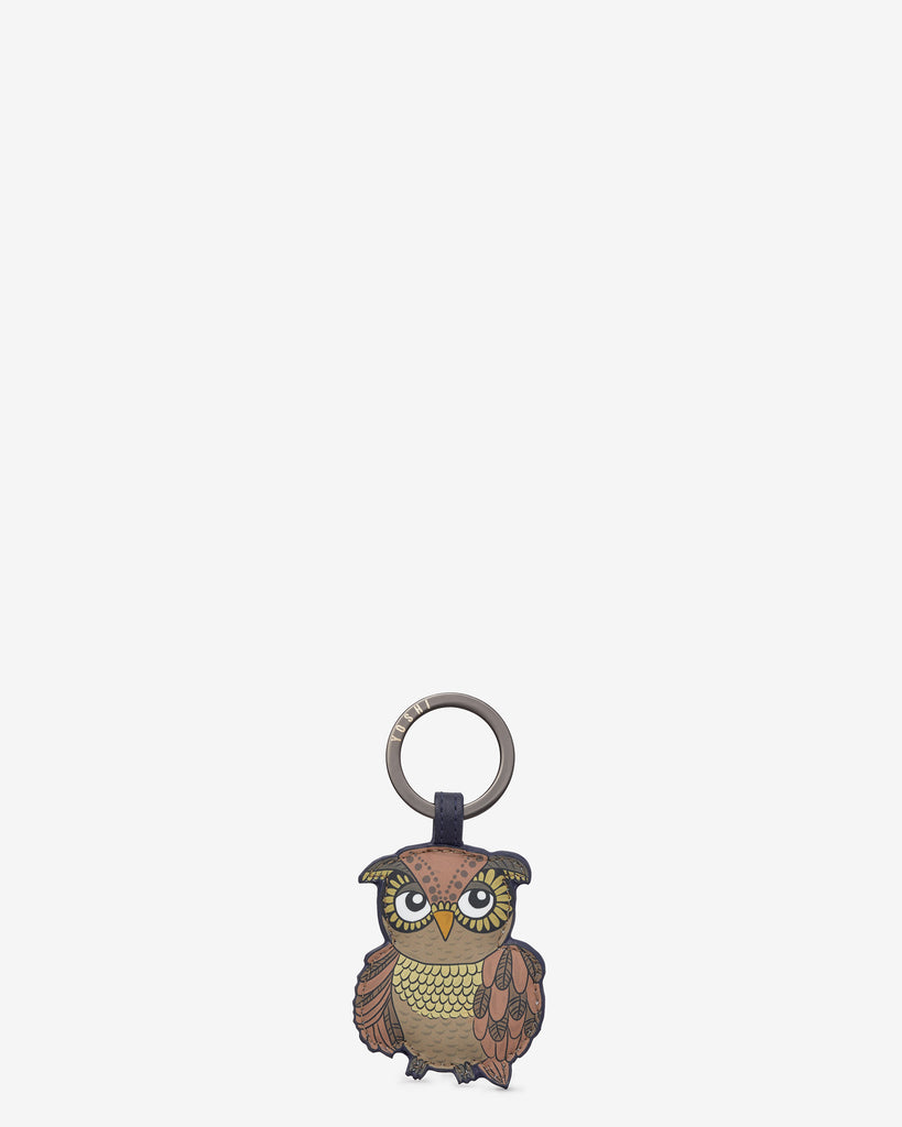 Owl You Need is Him Navy Leather Keyring - Yoshi