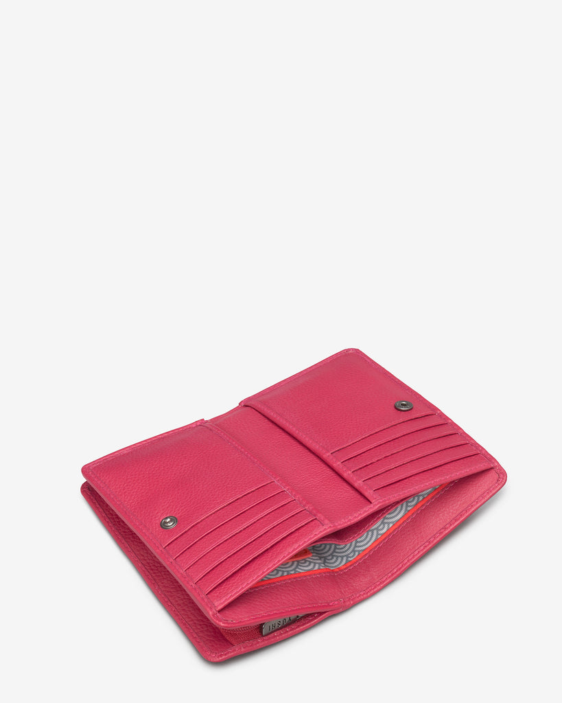 Raspberry Leather Oxford Purse - Yoshi