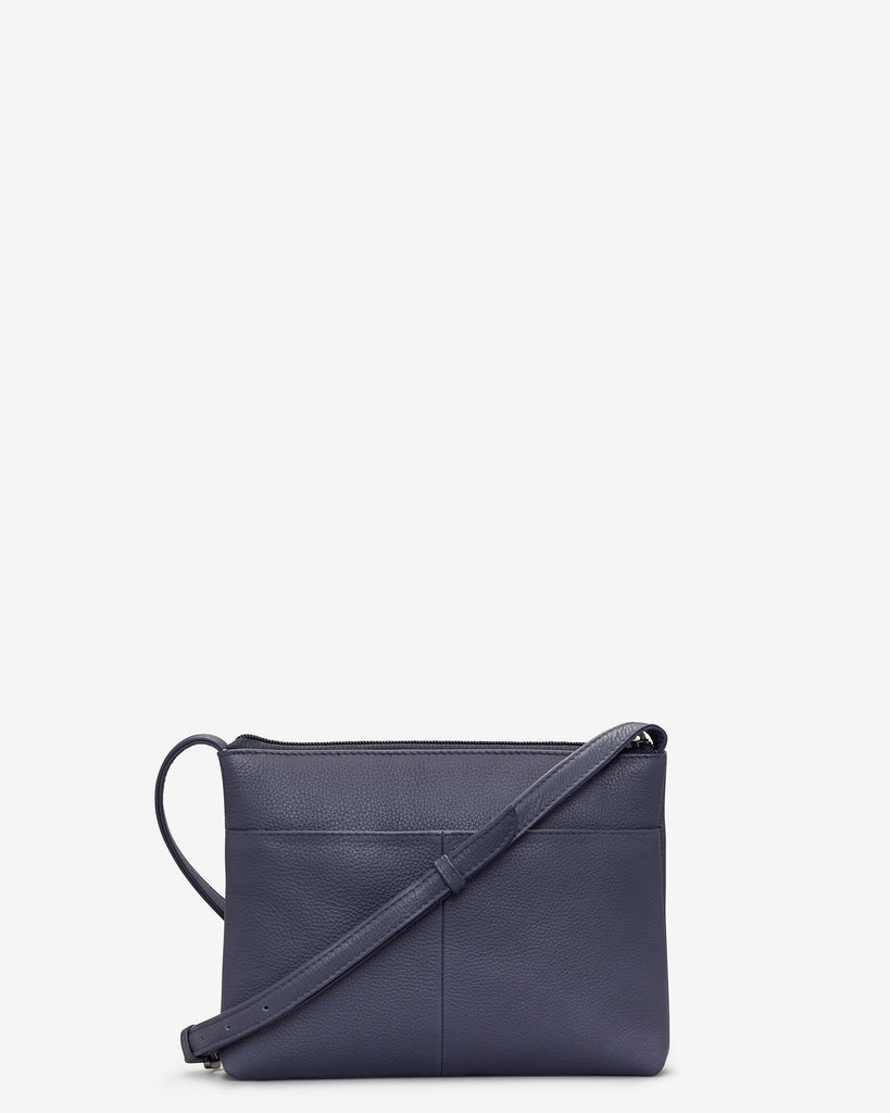 Parker Navy Leather Cross Body Bag -  - Yoshi