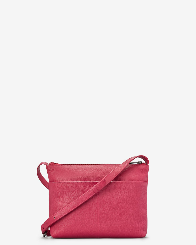 Parker Raspberry Leather Cross Body Bag - Yoshi