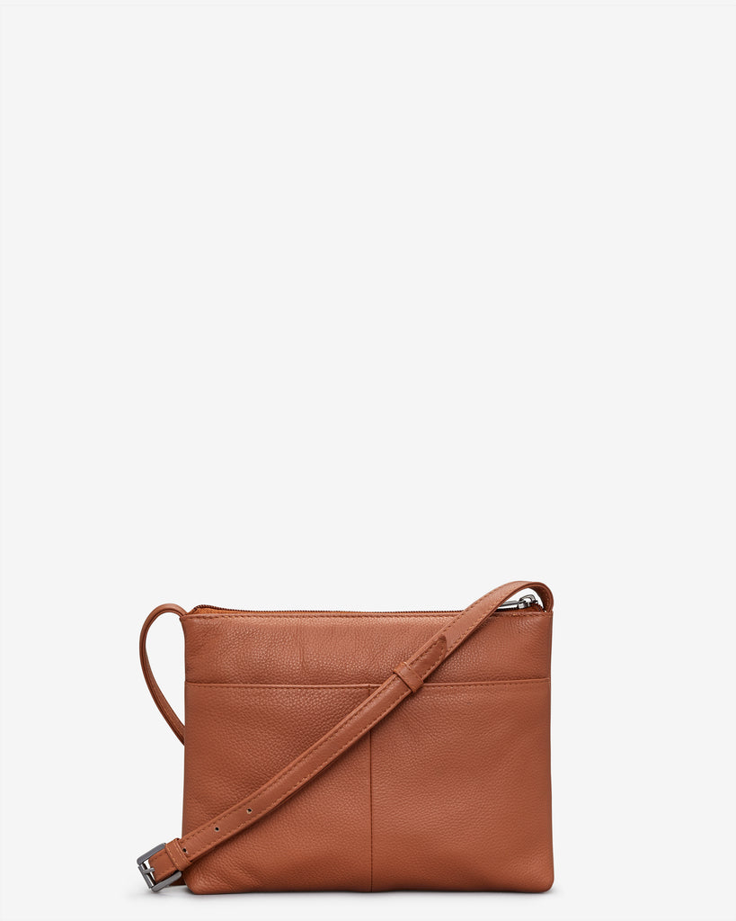 Parker Tan Leather Cross Body Bag - Yoshi