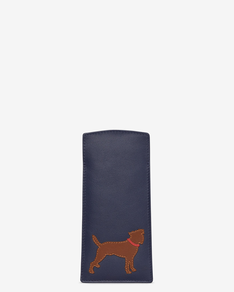 Paw-fect Pals Navy Leather Glasses Case - Navy - Y by Yoshi