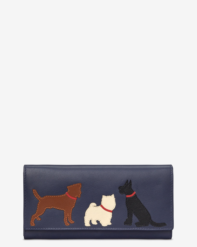 Paw-fect Pals Navy Leather Matinee Purse - Navy - Y by Yoshi