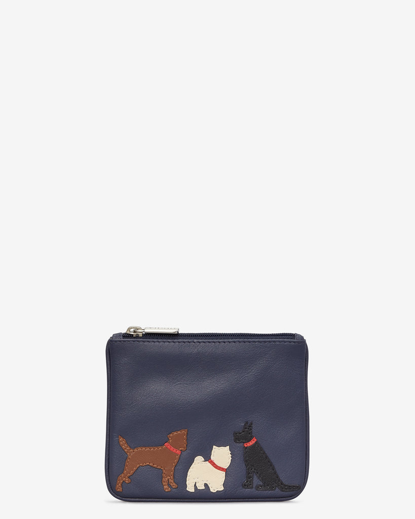 Paw-fect Pals Zip Top Navy Leather Purse - Navy - Y by Yoshi