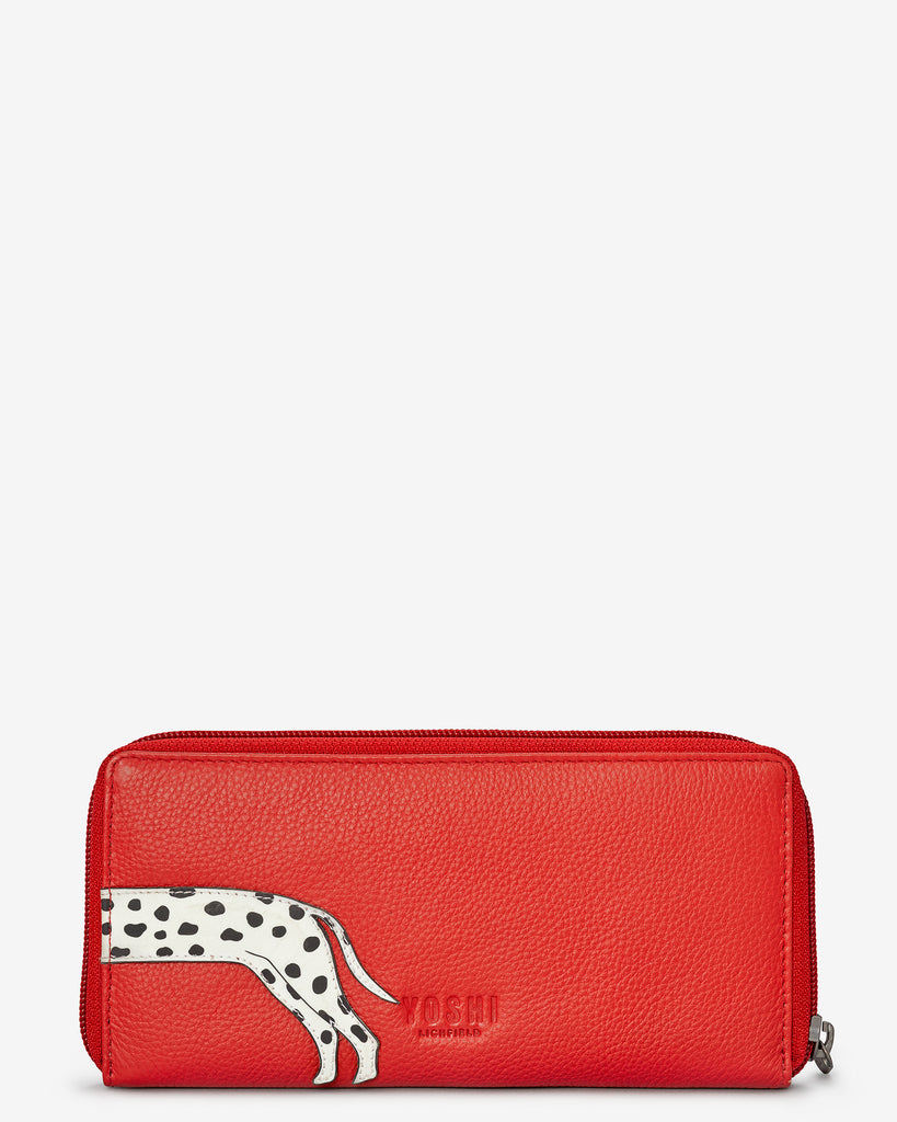 Penny The Dalmatian Red Leather Baxter Purse - Yoshi
