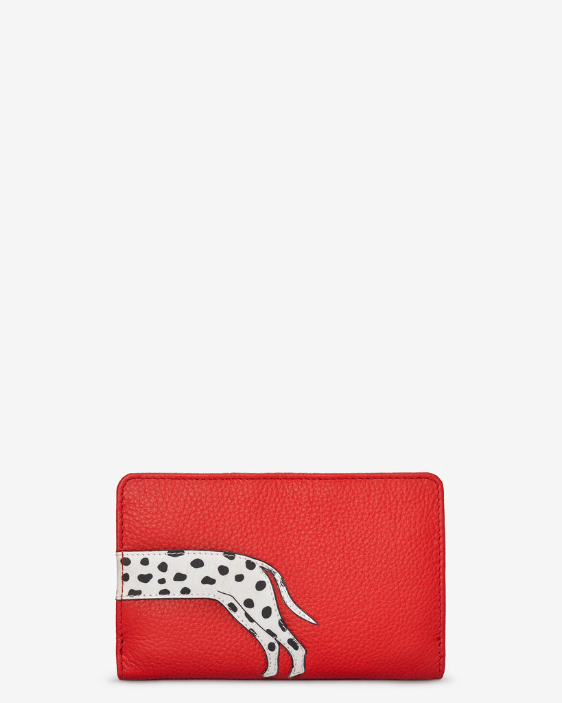 Penny The Dalmatian Red Leather Oxford Purse - Yoshi