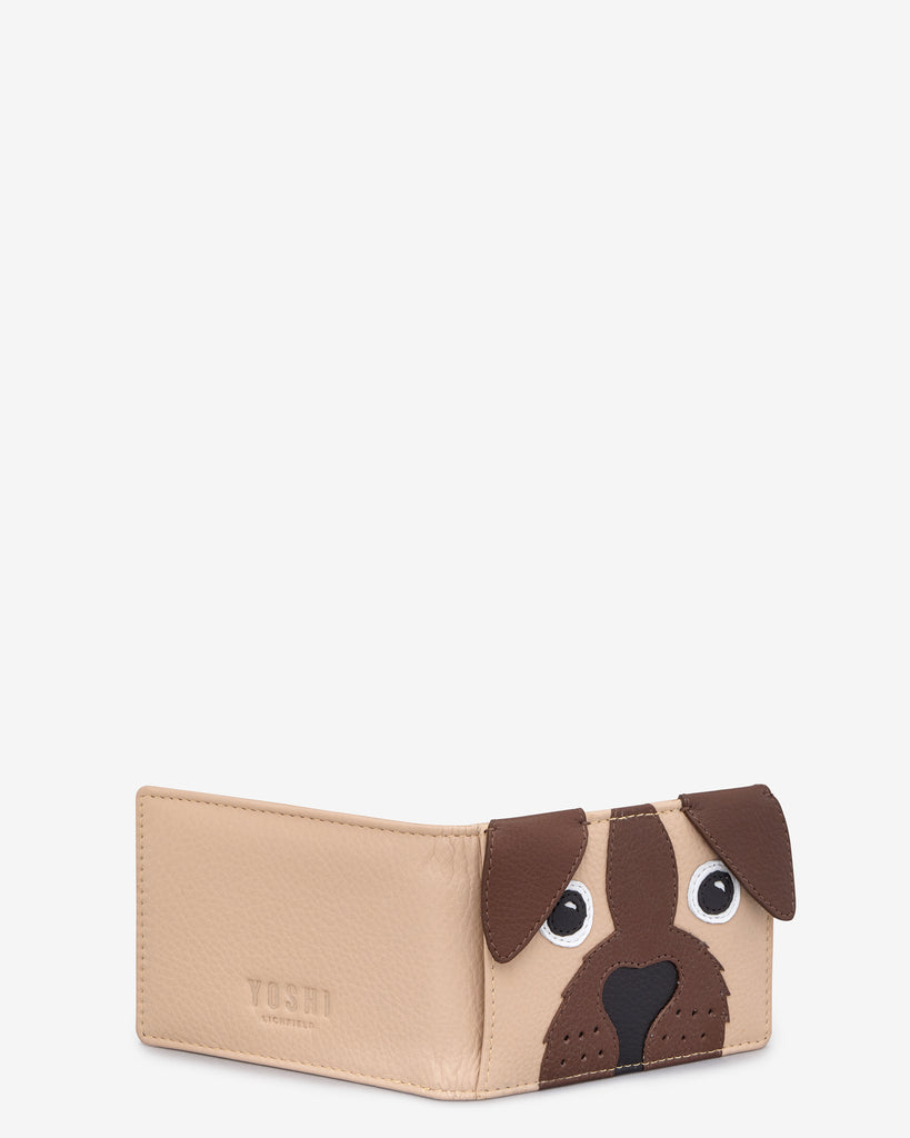 Percy the Pug Leather Travel Pass Holder - Yoshi
