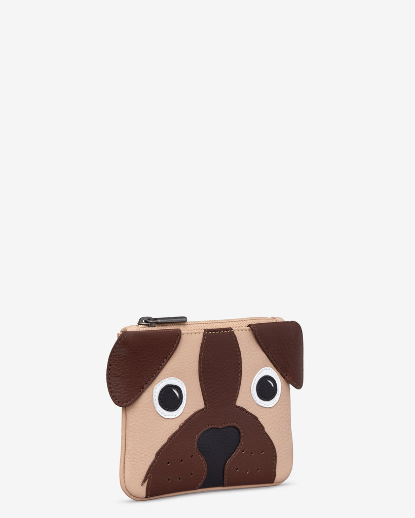 Percy the Pug Zip Top Leather Purse -  - Yoshi