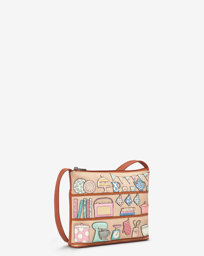 Perfect Pantry Tan Leather Cross Body Bag - Yoshi