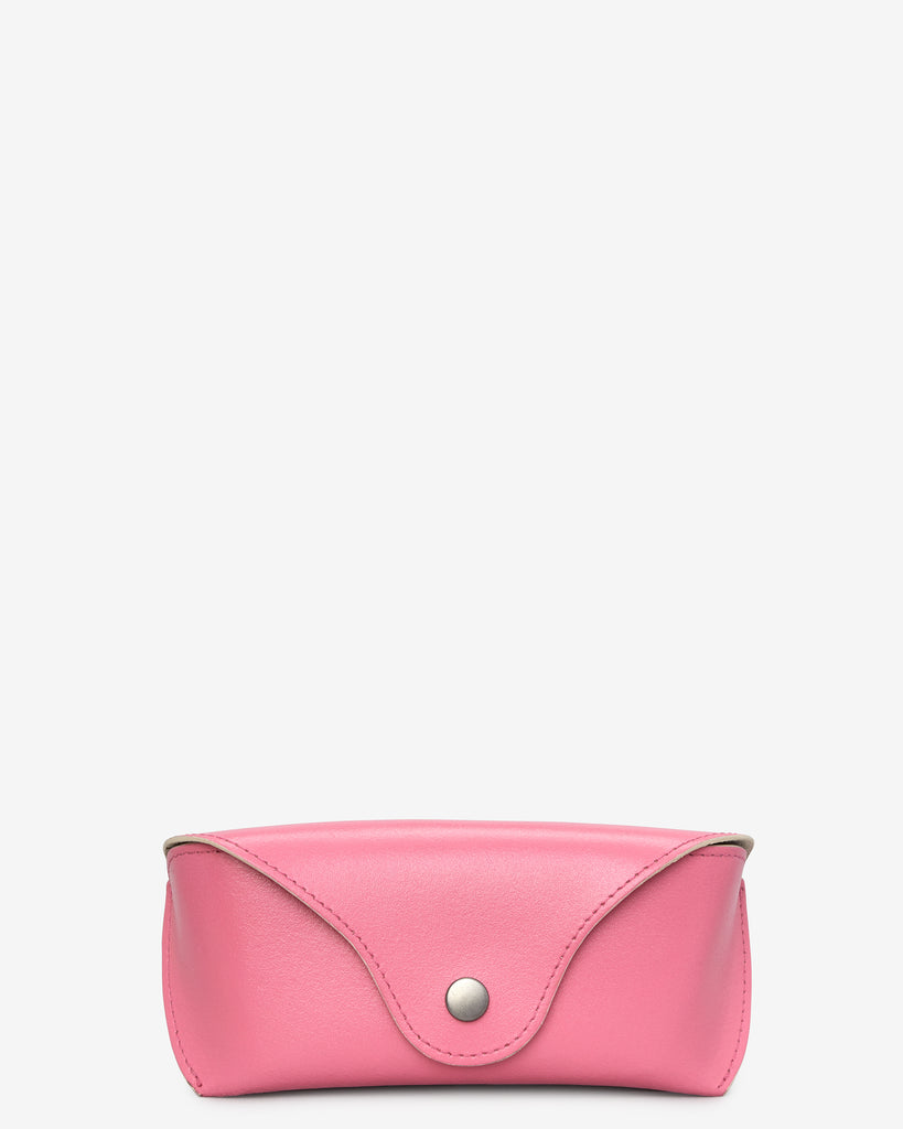 Pink Leather Glasses Case - Pink - Yoshi