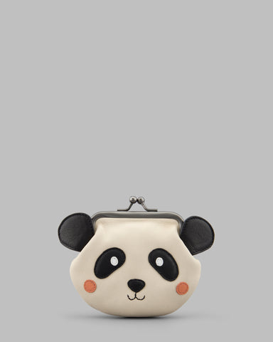 Po the Panda Leather Clip Top Frame Purse a