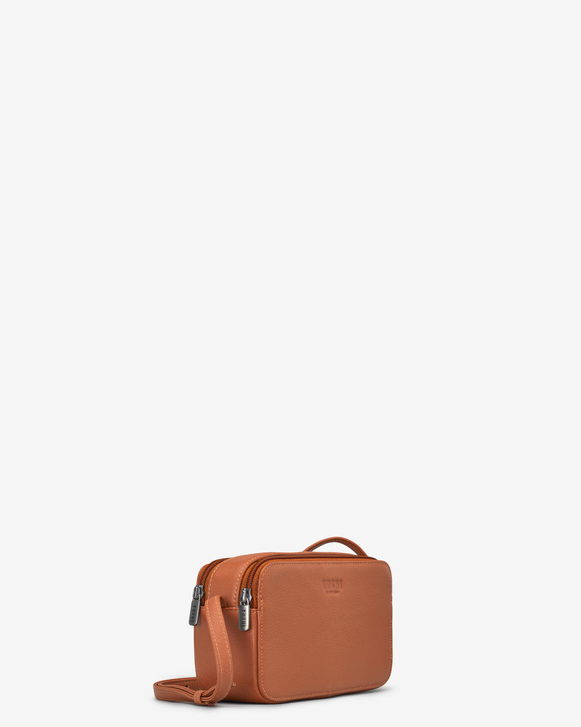 Porter Tan Leather Cross Body Bag - Yoshi