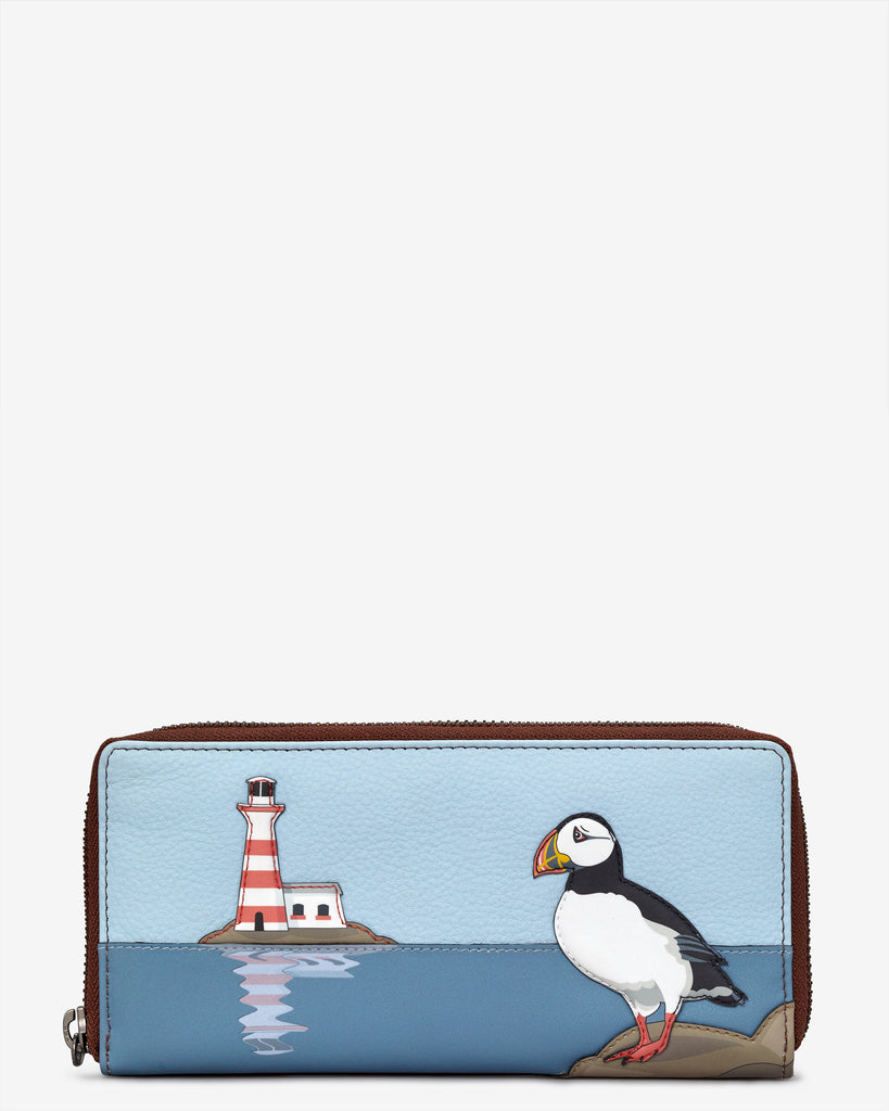 Puffin Island Brown Leather Baxter Purse - Brown - Yoshi