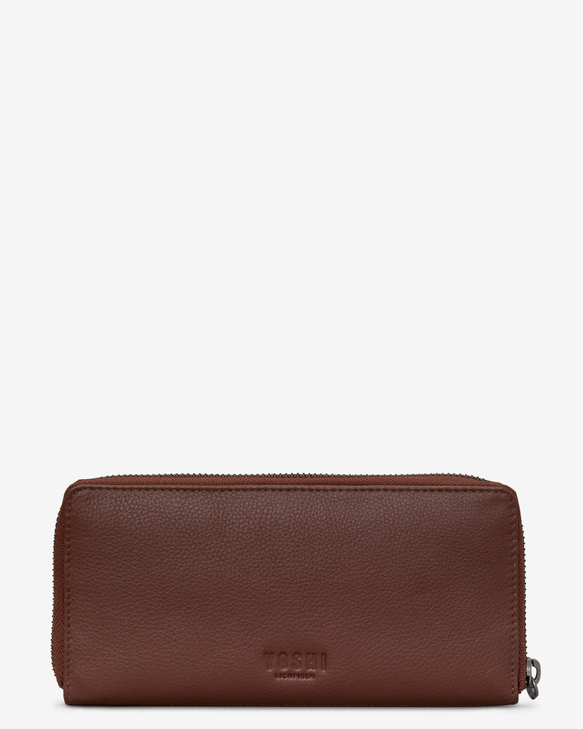 Puffin Island Brown Leather Baxter Purse -  - Yoshi