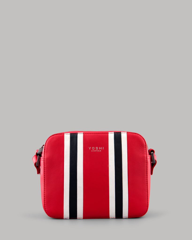 Rally Red Leather Ladies Shoulder Bag By Yoshi A