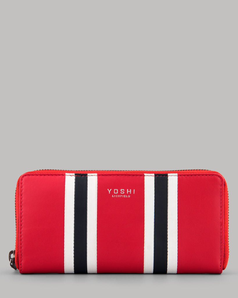 Rally Red Leather Zip Round Ladies Purse by Yoshi