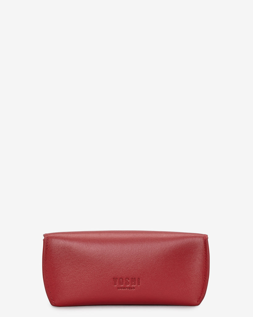 Red Leather Glasses Case - Yoshi