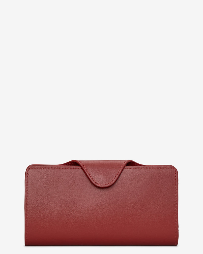 Red Satchel Leather Purse - Yoshi
