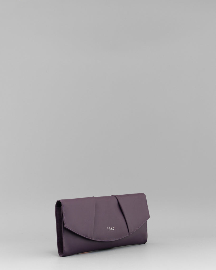 Rosenthal Purple Leather Clutch Bag b