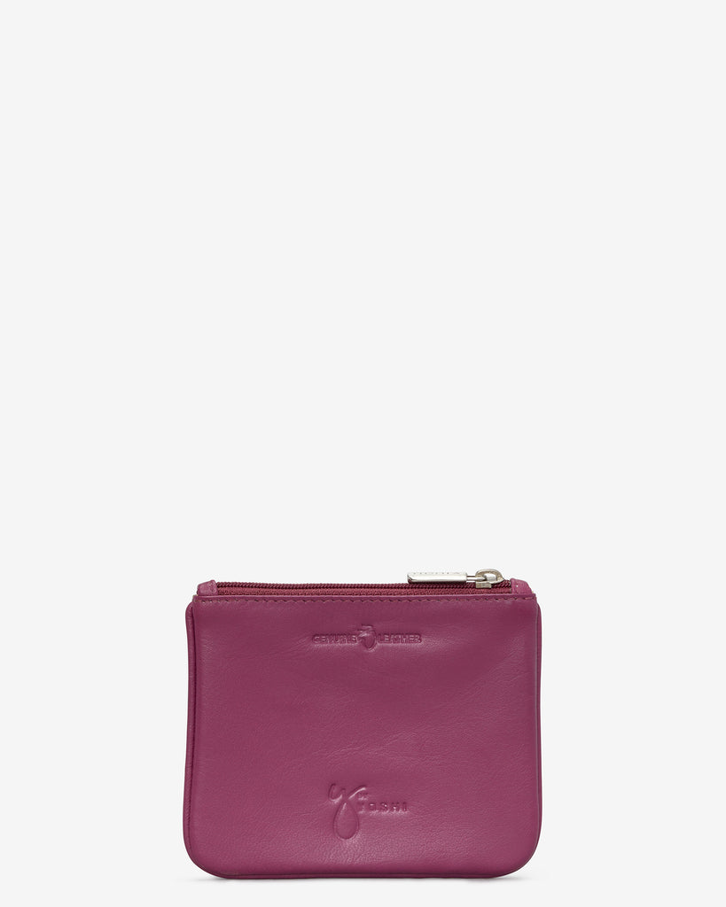 Shopping Day Out Zip Top Leather Purse - Yoshi