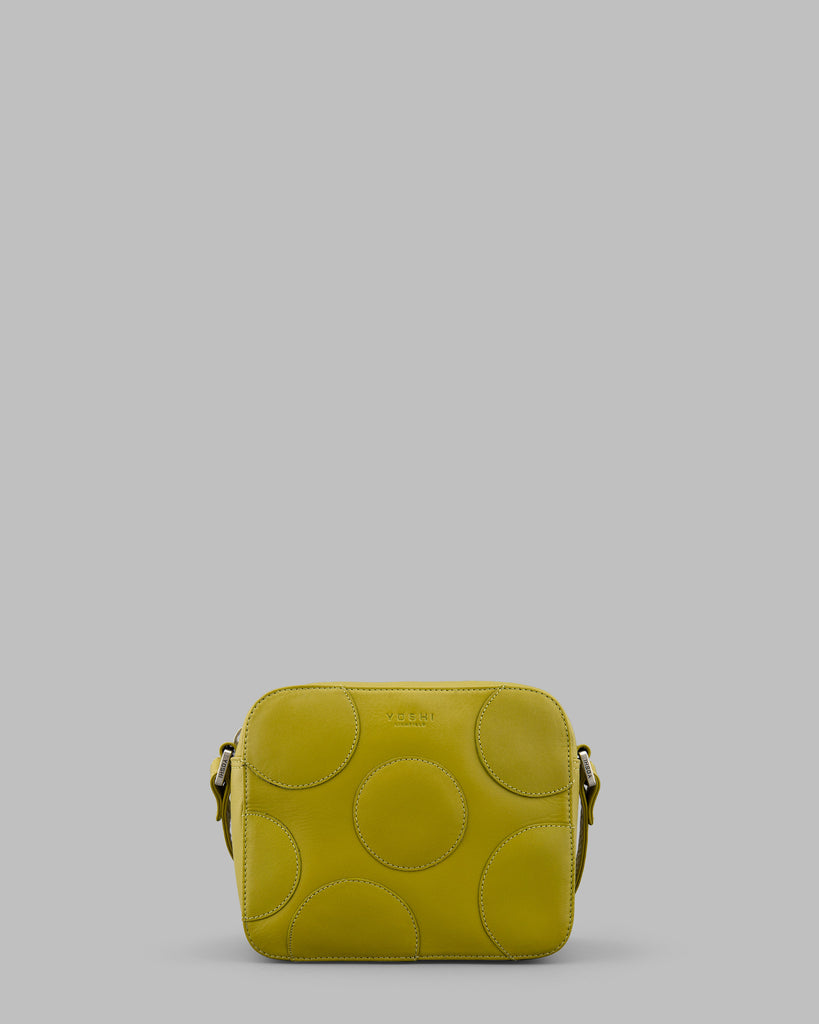 Spots and Dots Avocado Leather Shoulder Bag a
