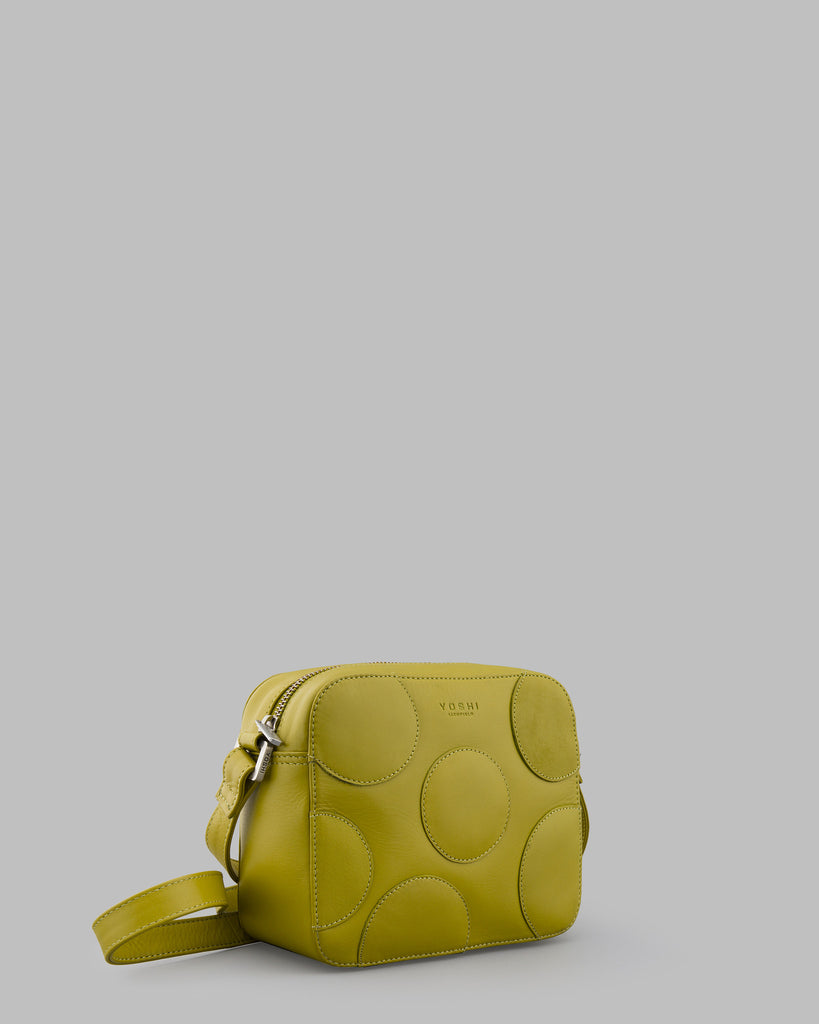 Spots and Dots Avocado Leather Shoulder Bag b