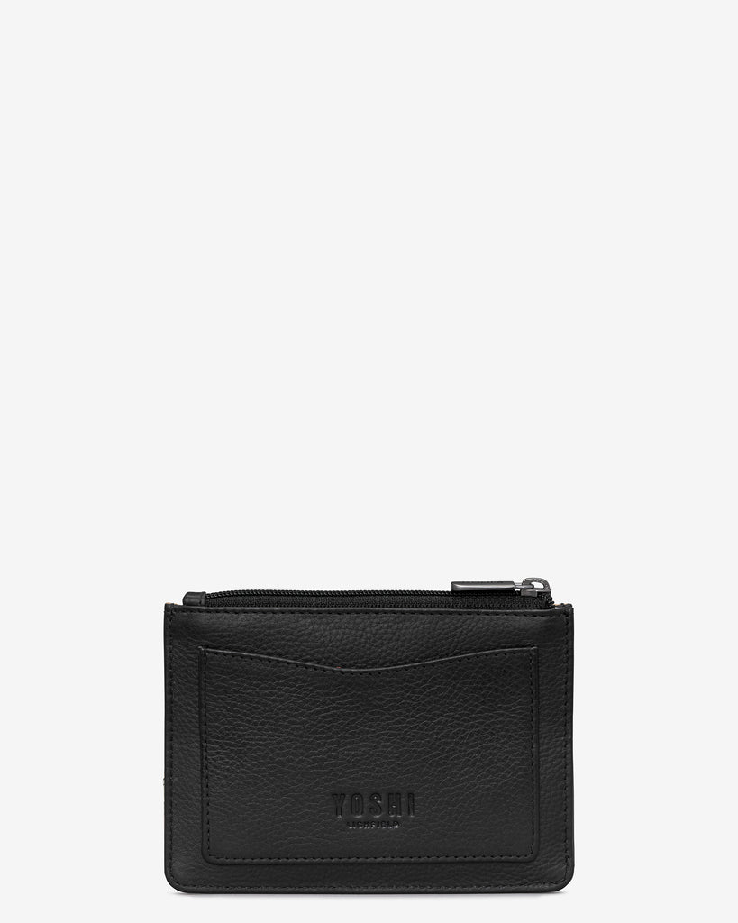 Stay Cool Black Leather Franklin Purse - Yoshi
