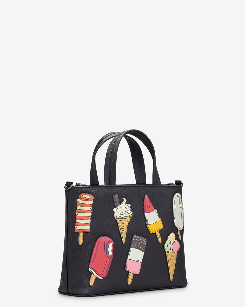 Stay Cool Black Leather Multiway Grab Bag -  - Yoshi