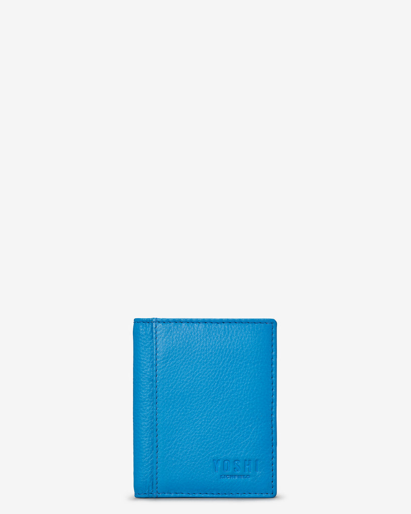 Cobalt Blue Leather Steinway Card Holder - Yoshi