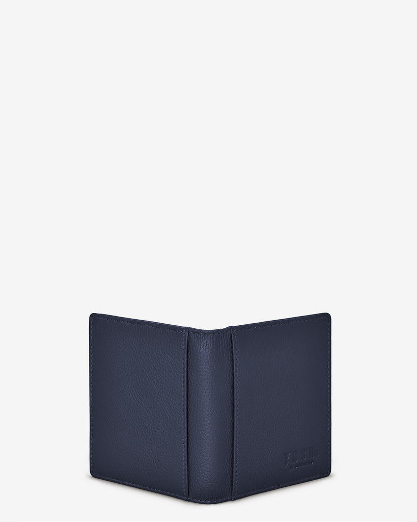 Navy Leather Steinway Card Holder - Yoshi