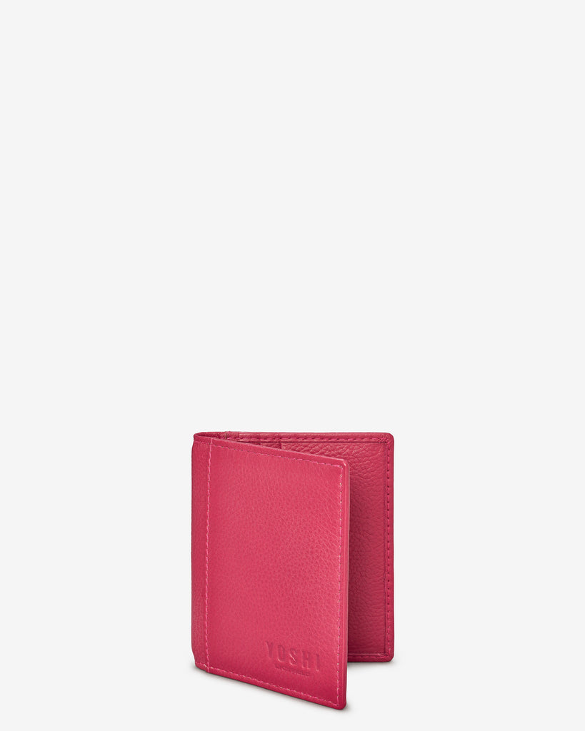 Raspberry Leather Steinway Card Holder - Yoshi