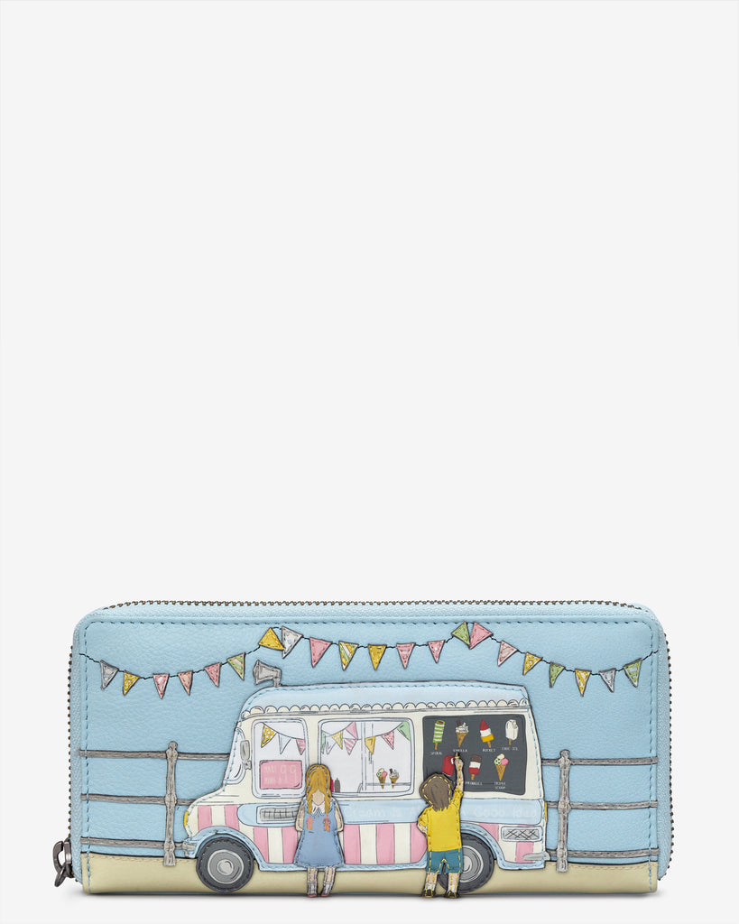 Summer Memories Blue Leather Baxter Purse - Blue - Yoshi