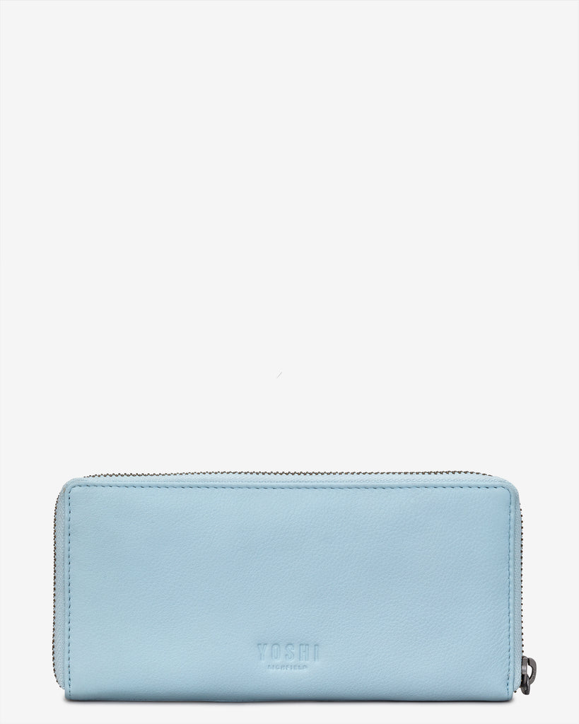 Summer Memories Blue Leather Baxter Purse -  - Yoshi