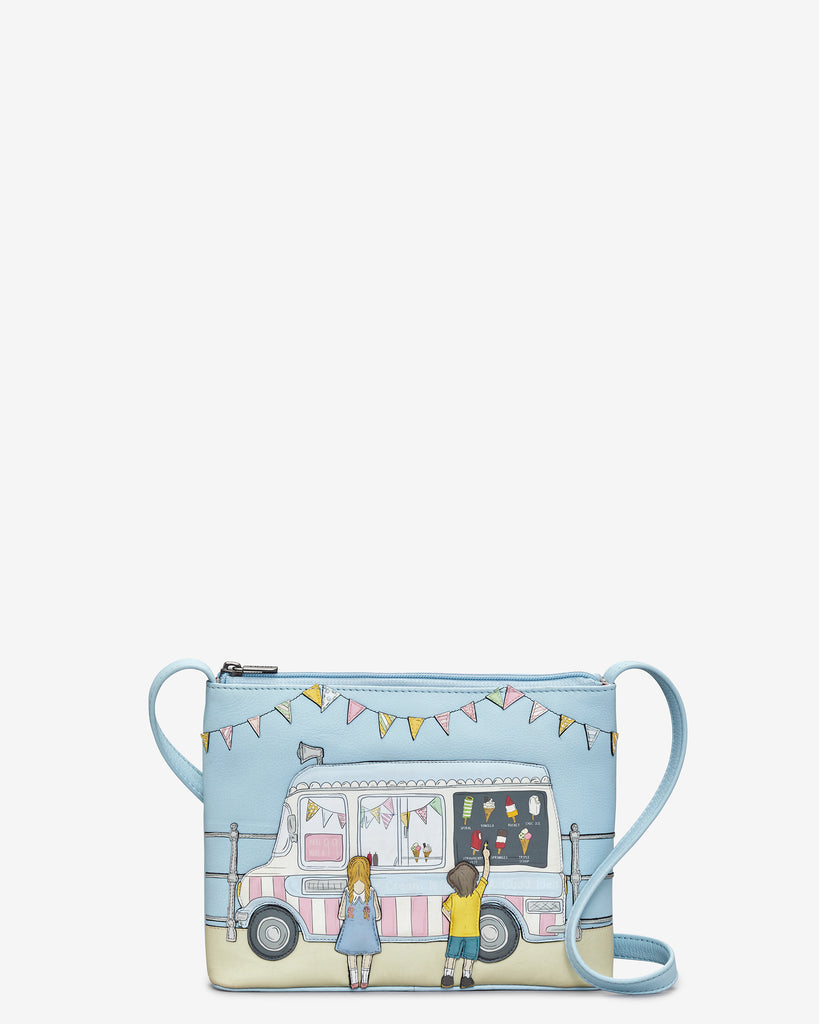 Summer Memories Blue Leather Cross Body Bag - Blue - Yoshi