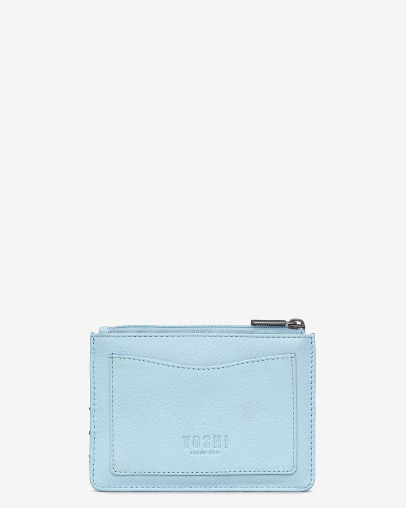 Summer Memories Blue Leather Franklin Purse -  - Yoshi