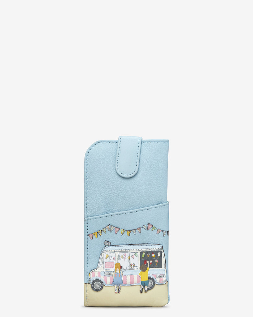 Summer Memories Blue Leather Chilton Glasses Case - Blue - Yoshi