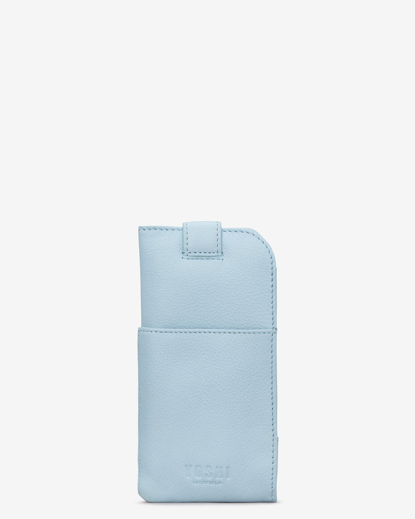 Summer Memories Blue Leather Chilton Glasses Case -  - Yoshi