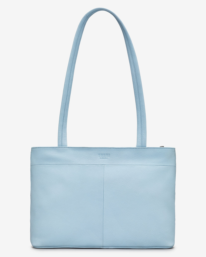 Summer Memories Blue Leather Shoulder Bag -  - Yoshi