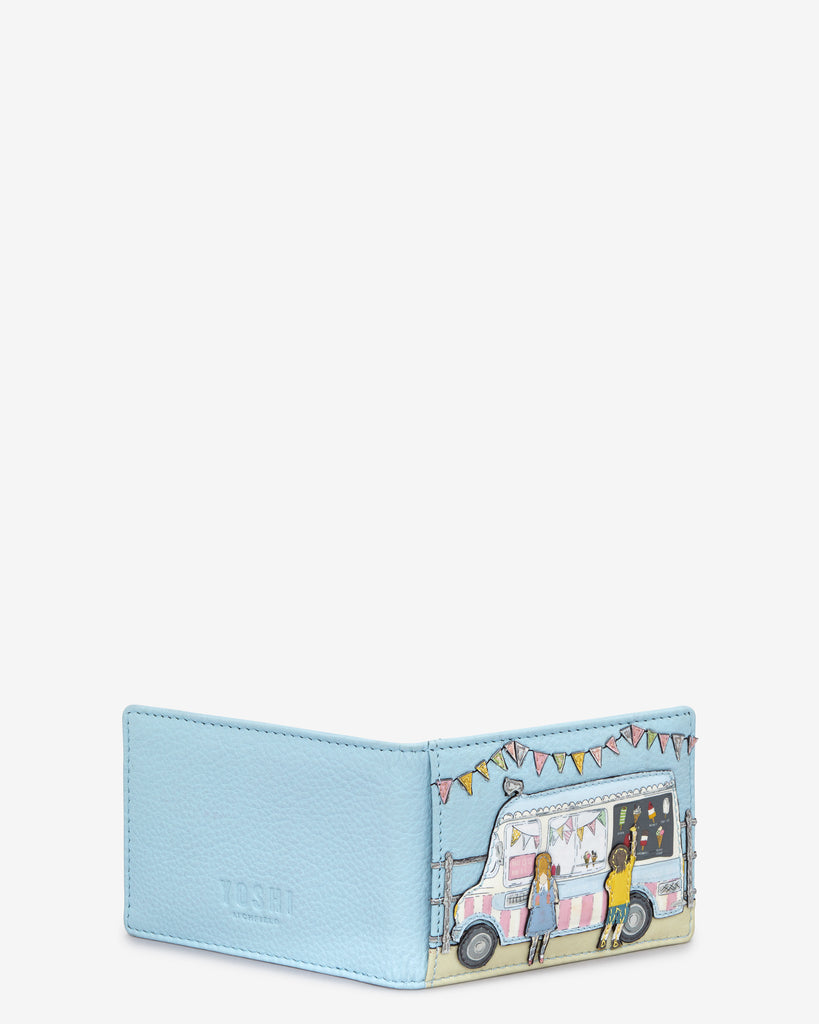 Summer Memories Blue Leather Travel Pass Holder -  - Yoshi