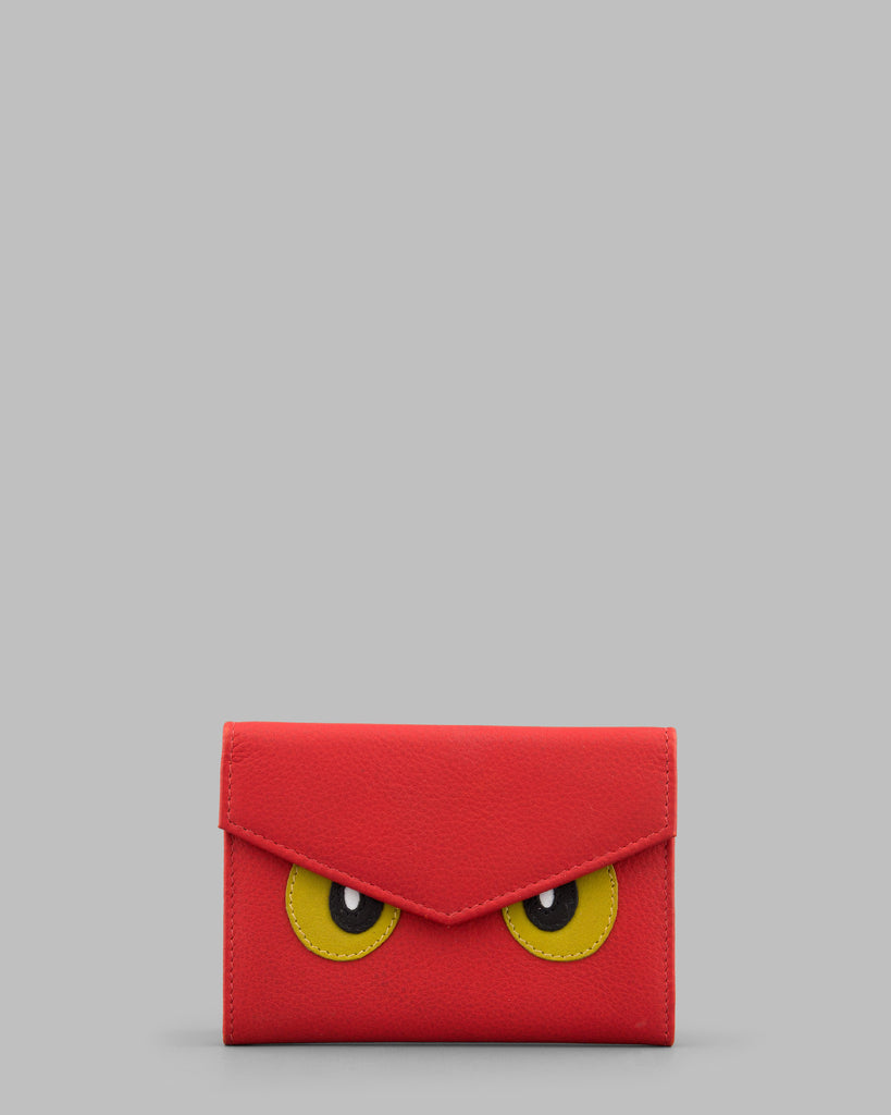 Surpr - Eyes Red Leather Purse a