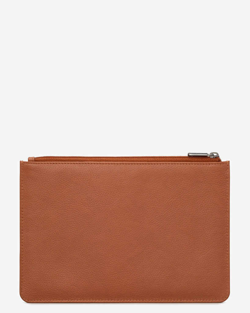 Tan Leather Brooklyn Pouch -  - Yoshi