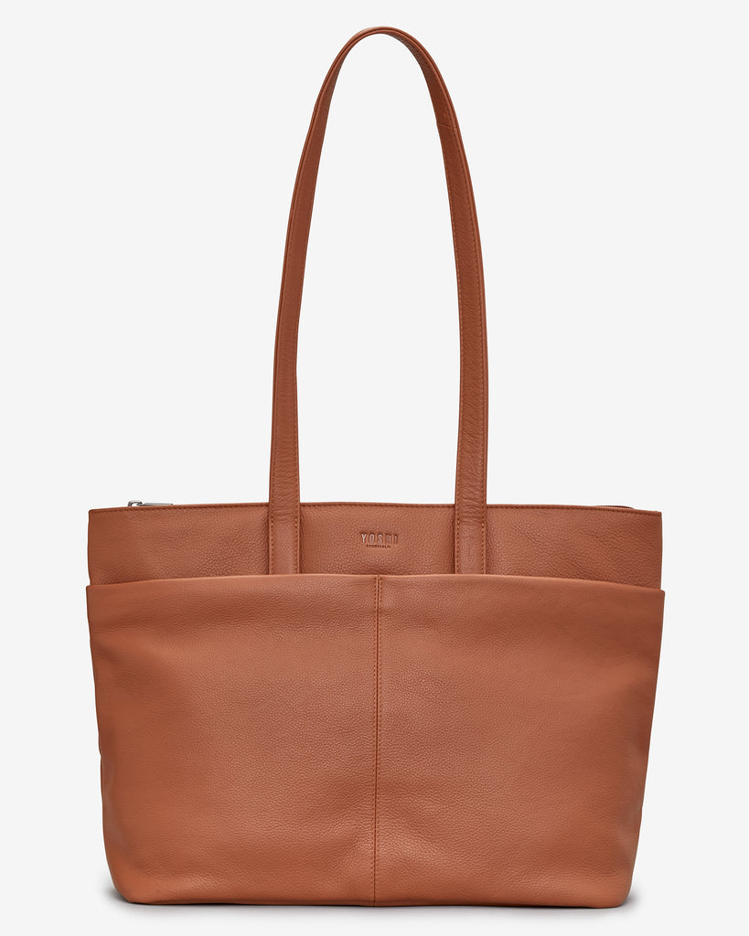 Gresley Tan Leather Shopper Bag - Tan - Yoshi