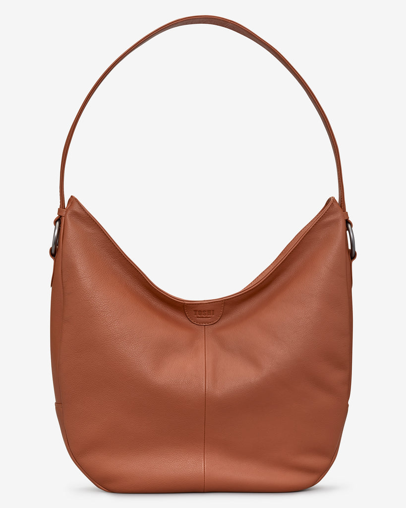 Ludlow Tan Leather Shoulder Bag - Tan - Yoshi