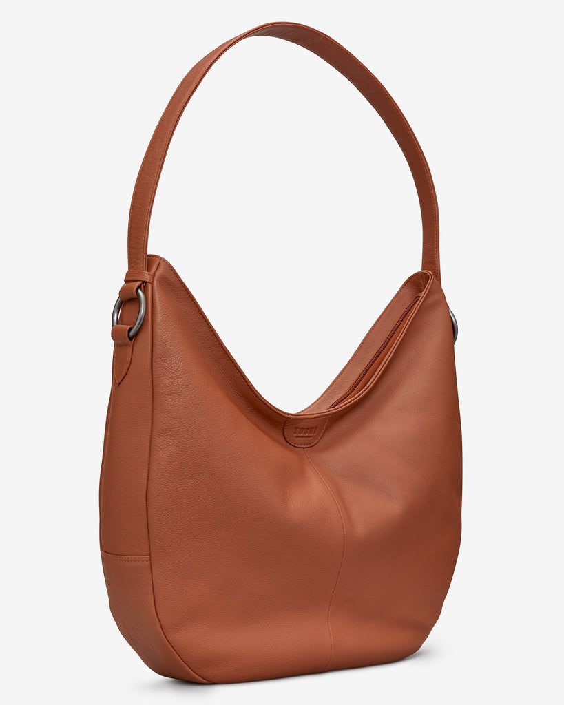 Ludlow Tan Leather Shoulder Bag -  - Yoshi