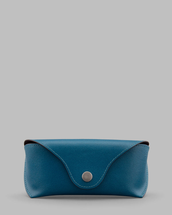 Teal Leather Glasses Case a